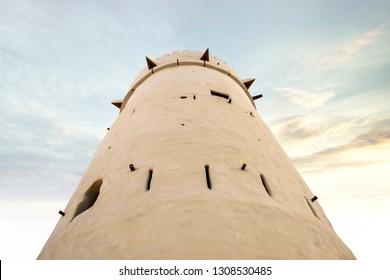 Qasr al Hosn sun set at Abu Dhabi