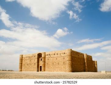 Qasr al Kharanah or Harrana. Desert castle. Jordan.