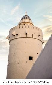 Qasr al-Hosn sun set at Abu Dhabi