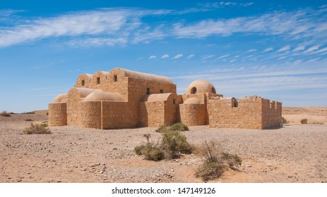 Qasr Amra, desert castle in Jordan. Built in 8th century by the Umayyad caliph Walid II, the castle is one of the most important examples of early Islamic architecture.