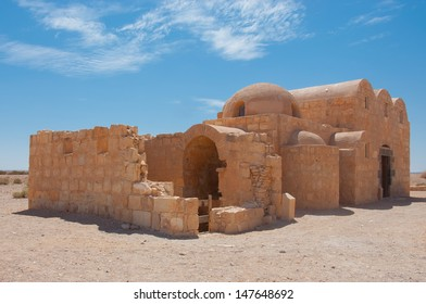Qasr Amra, desert castle in Jordan. Built in 8th century by the Umayyad caliph Walid II, the castle is one of the most important examples of early Islamic art and architecture.