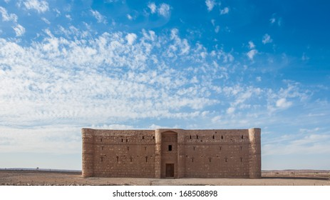 Qasr Kharana, the desert castle in eastern Jordan. Built in 8th century AD to be used as caravanserai, a resting place for traders.