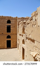 Qasr Kharana (Kharanah or Harrana), the desert castle in eastern Jordan (100 km of Amman). Built in 8th century AD to be used as caravanserai, a resting place for traders
