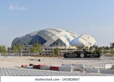 Qatar, Doha, 16th of July 2019. Picture of Lusail Sports Arena, also known as Lusail Multipurpose Hall, an indoor sports arena located in Lusail, Qatar with a seating capacity of over 15,300.