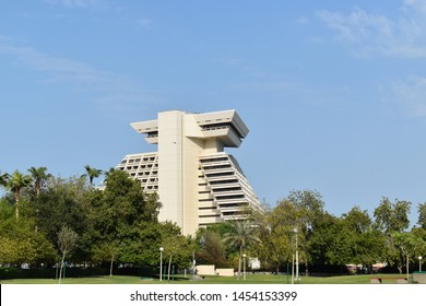 Qatar, Doha, 16th of July 2019. Picture of Doha Sheraton hotel also known as The Pyramid of the Gulf because it's shaped like an Aztec pyramid, offers breathtaking views of the bay and the city.