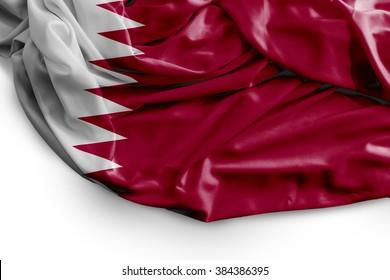 Qatar flag on white background