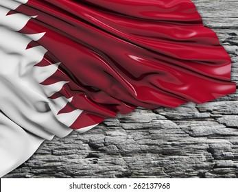 Qatar Flag with stone