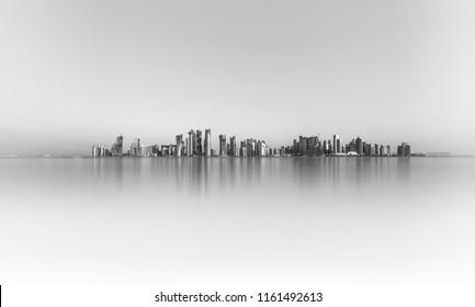 Qatar skyline view