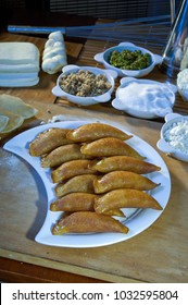 Qatayef or Katayef, Arabic Sweets with Nuts and Other Ingredients for Ramadan and Eid