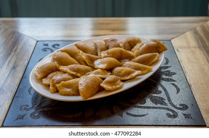 Qatayef Ramadan Stuffed with Cheese and nuts