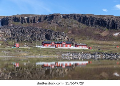 Qeqertarsuaq, Greenland - July 6, 2018: The Arctic Station, a research facility owned by the university of Copenhagen