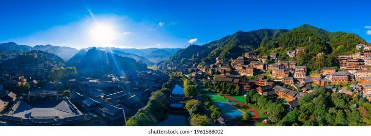 Qianhu Miao village in Xijiang, Qiandongnan, Guizhou Province, China