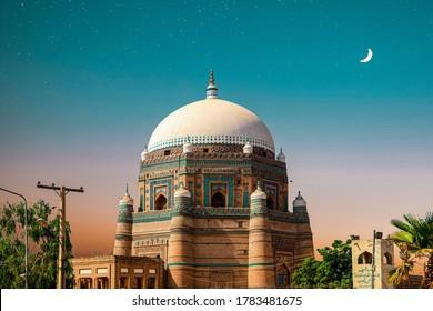 Qilla Picture In Multan,Paksitan Colourful scene.