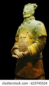 Qin shihuang terracotta warriors, xi 'an in China. On October 2, 2016. Qin shihuang terracotta warriors real art masterpieces, is the miracle of the world