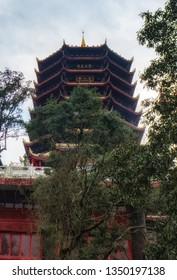 Qingcheng is a famous Taoism (Daoism) mountain in Dujiangyan, Sichuan, China.