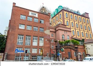 Qingdao / China - August 6th 2015: Tsingtao Beer Museum, Tsingtao Beer Brewery, Qingdao, Shandong Province, China