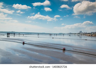 Qingdao, China - September 14 2014: The beach view in Qingdao