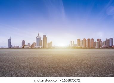 Qingdao city landscape, shandong province, China