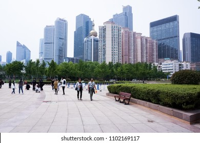 Qingdao, shandong/China, May 26, 2018, Qingdao, clean and tidy city scenery during the Shanghai cooperation summit