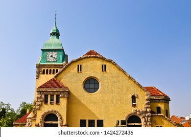 Qingdao, Shandong/china-5/11/2019: The front dome of the Christian Church of Qingdao built by Germany a missionary