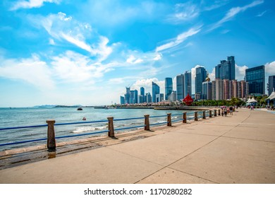 Qingdao's beautiful coastline and cityscape