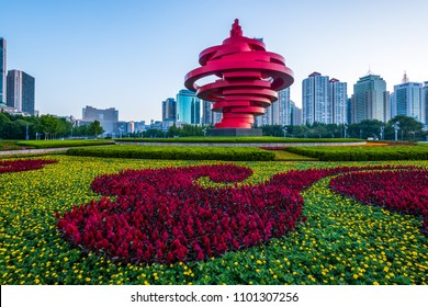 qingdao,shandong/china-MAY 26 2018:Qingdao city view, shandong, China