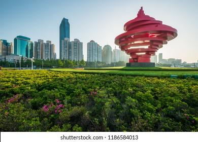 qingdao,shandong/china-May 27 2018 : Qingdao city landscape, shandong province, China