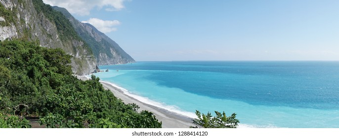 Qingshui Cliff ocean views near Hualien, Taiwan.