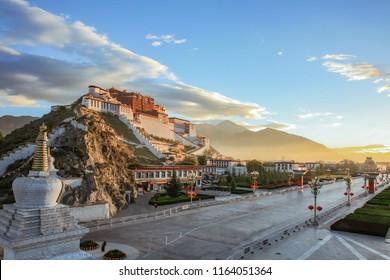 Qingzang Plateau Tibet Lhasa Potala Palace Rizhao Jinding scenery