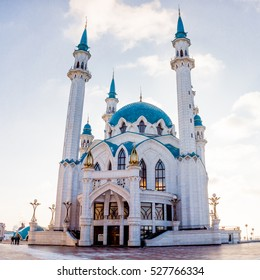 The Qol Sharif Mosque  in Kazan Kremlin. Tatarstan, Russia. Kul Sharif.  UNESCO World Heritage Site.