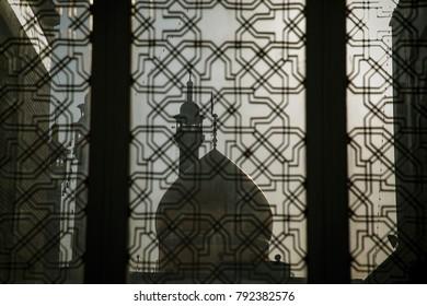 Qom, Iran - December 11, 2017: Fatima Masumeh Shrine in Qom city in Iran