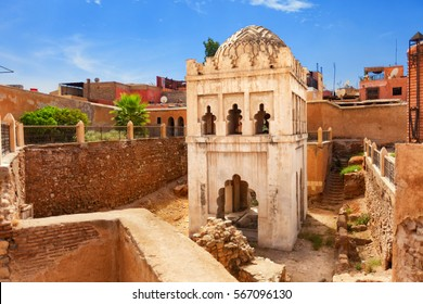 Qoubba Almoravide founded in 1064 in Marrakech, Morocco. It was the center of ablution for believers going to the mosque