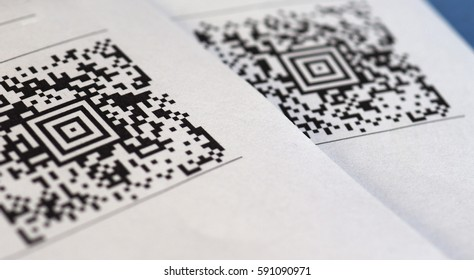 QR code barcode (meaning Quick Response Code)