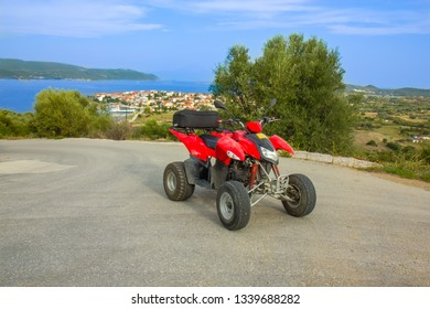 Quad bike ATV on the island