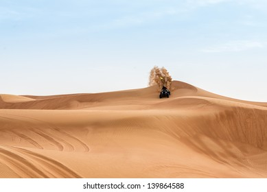 Quad bike in the Dubai desert