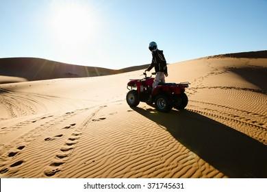 Quad Biking Silhouette - Merzouga - Morocco