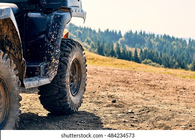 Quadbike in the mountains