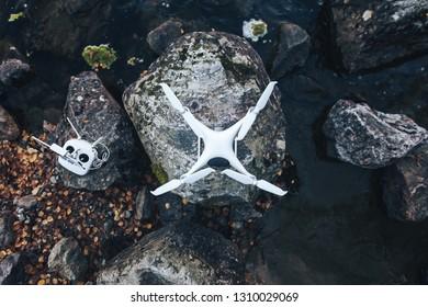 Quadcopter Drone Outdoors