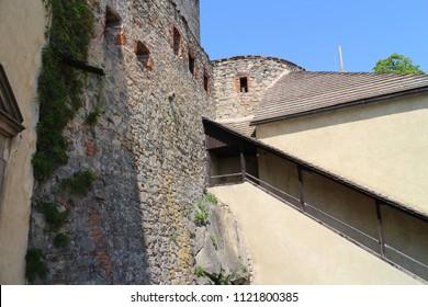 Quadrangle in Buchlov castle, Czech republic