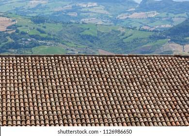 Quadrel roof and landscape.