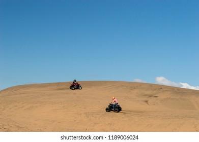 Quadricycle adventure at the sand dunes