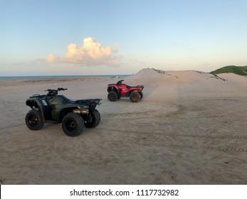 Quadricycles near the beach