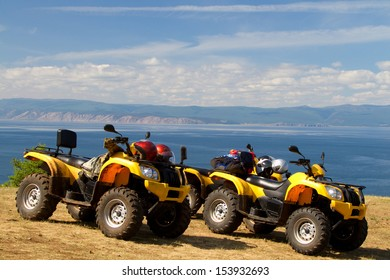 Quadricycles on the shore of Lake Baikal