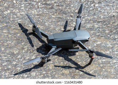 quadrocopter on stone, close-up