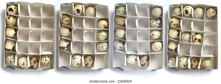 quail eggs in the form of word love