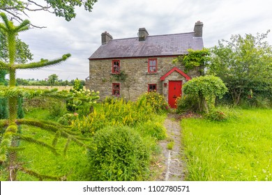 a quaint house and garden, in the countryside, taken outside Mohill, Co. Leitrim, Ireland, in July, 2017.