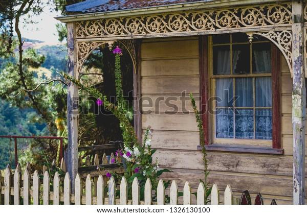 Quaint New Zealand Cottage, Otago, New Zealand.
