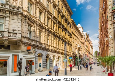 the quaint streets of Budapest
