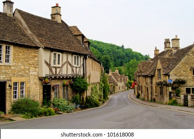 Quaint town of Castle Combe in the Cotswolds of England