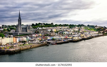 Quaint village and seaport of Cobh, in Cork County, Ireland.